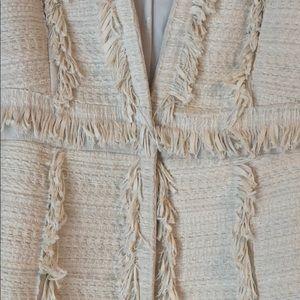 Max Studio Jackets & Coats - NWT Cream and fringe Max Studio coat!